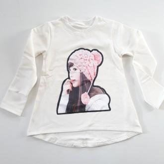 Блуза с момиче-лека вата