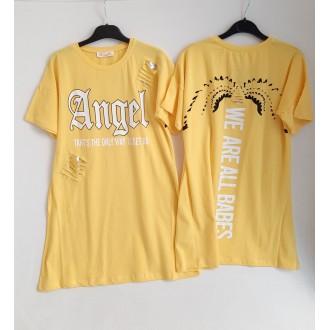 """Рокля """"Angel """"- 146,152,158,164 см., ЖЪЛТА"""